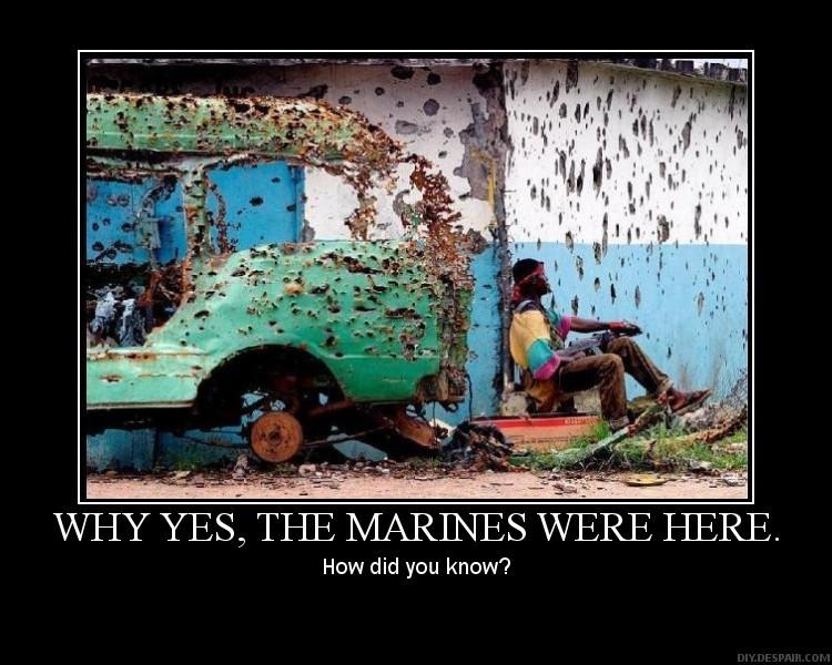Demotivational marines were here